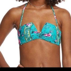 Betsey Johnson bikini swim suit top size large